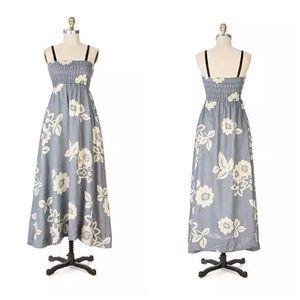 Anthropologie Yuca Bloom Dress Linen & Silk, 8